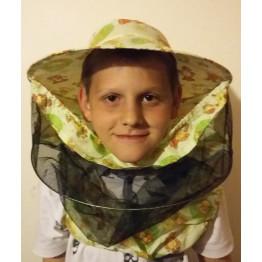 Gyermek méhészkalap mellrészes